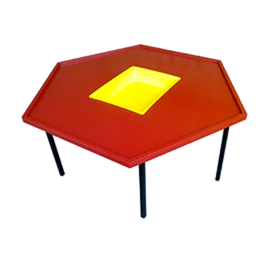 Hexagone Table with Bucket