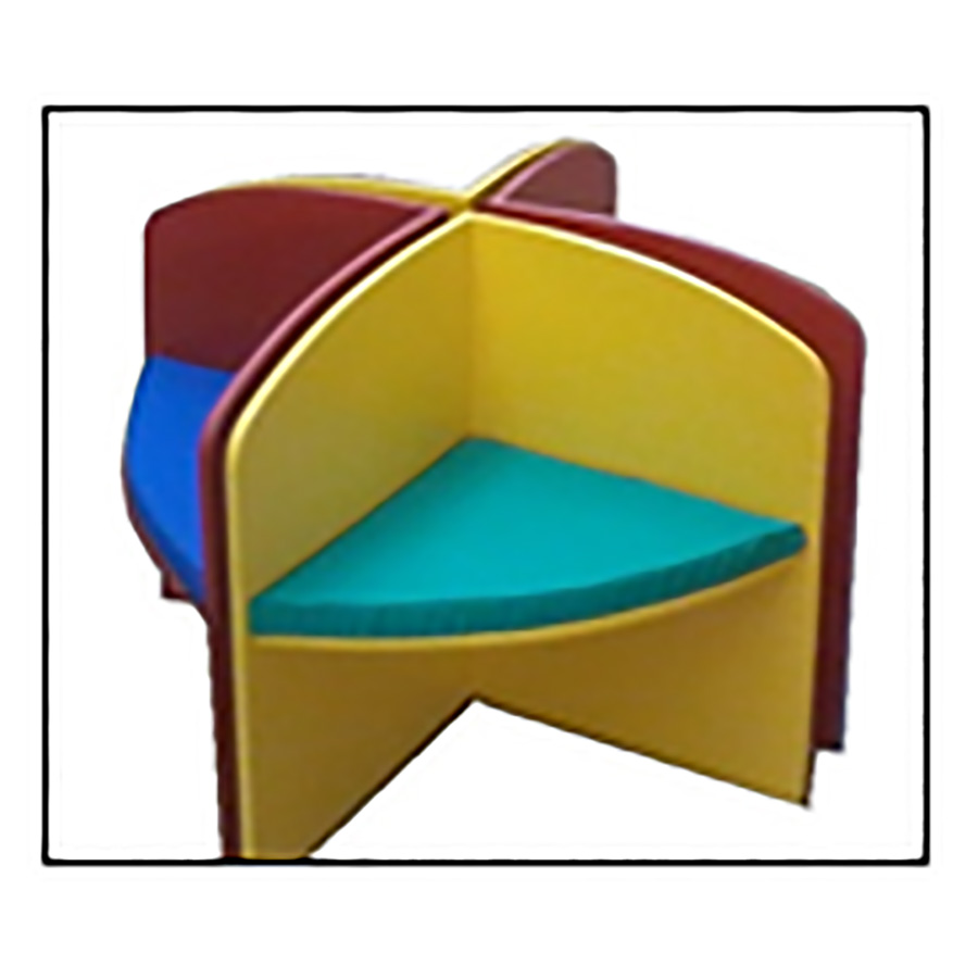 Modular 4 in 1 Seat Set with Cushions