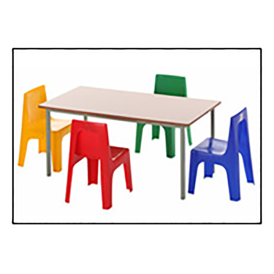 Rectangular Group Table Clear