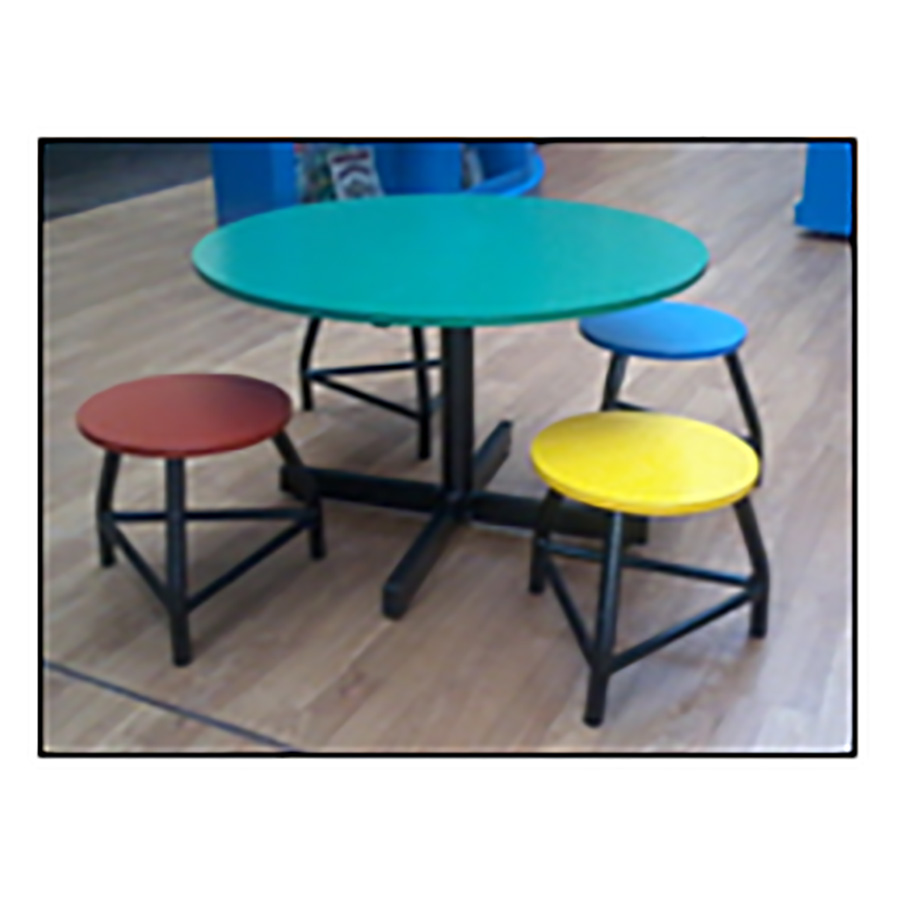 Round Table with Kiddies Stool