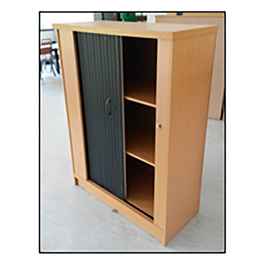 Roller-Door-Bookcase